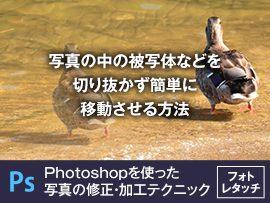 写真の中の被写体などを切り抜かず簡単に移動させる方法