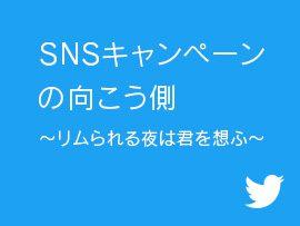 【Twitter】SNSキャンペーンの向こう側~リムられる夜は君を想ふ~